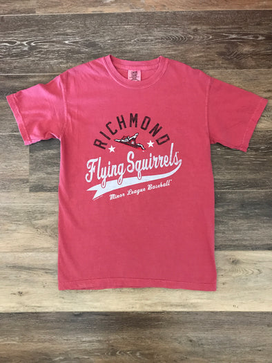 Richmond Flying Squirrels Comfort Colors Red Tee