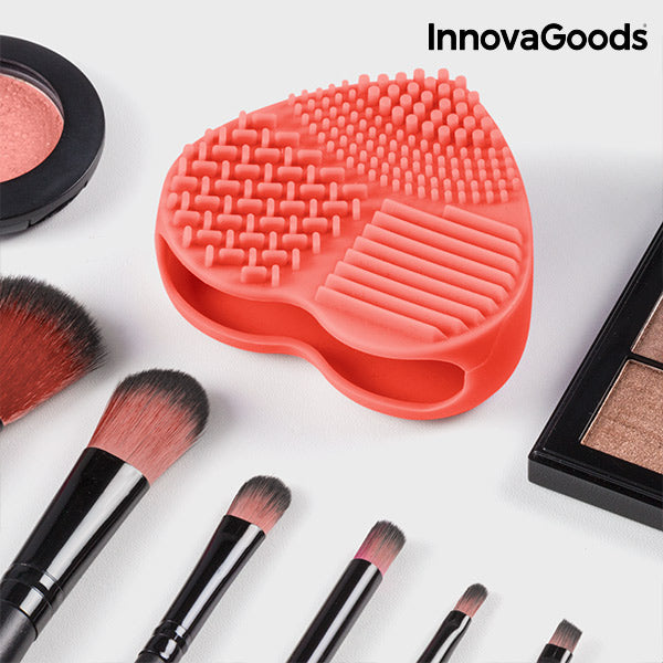 InnovaGoods Make-up Pinselreiniger im originellen Herz Design