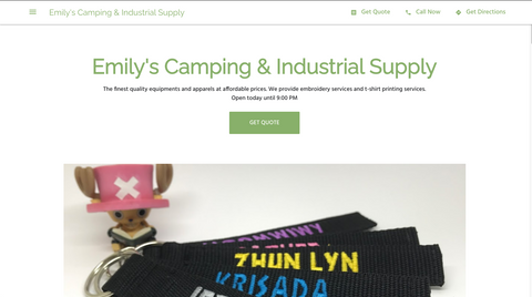 Emily's Camping - Security Shirt | Embroidery | Printing Singapore