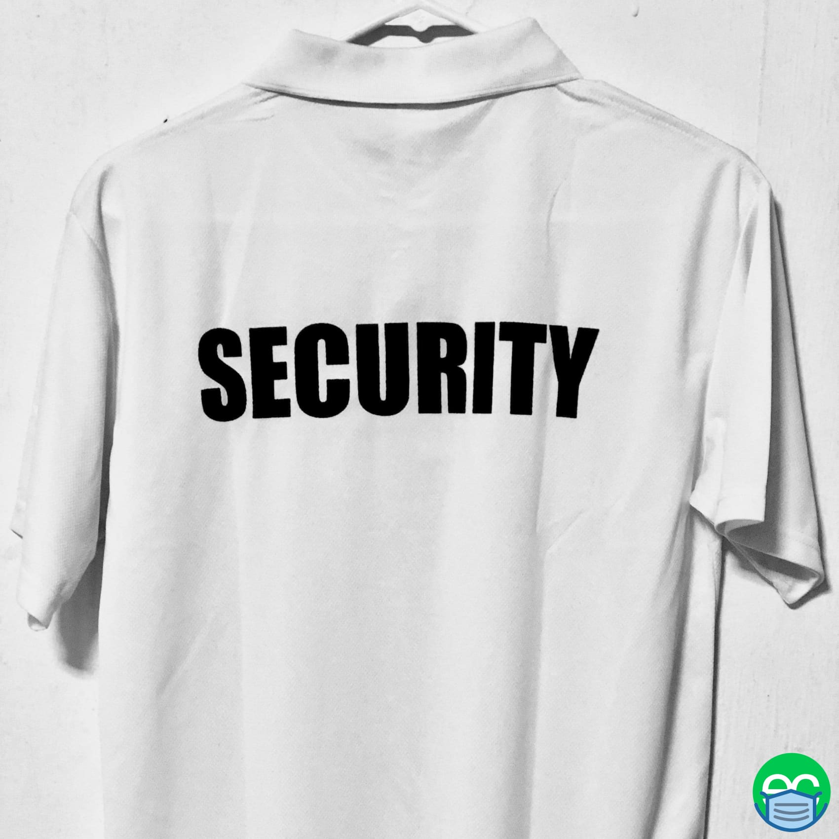 White Security Polo Shirt - ECEmbroid