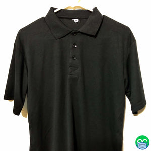 Black Security Polo Shirt - ECEmbroid