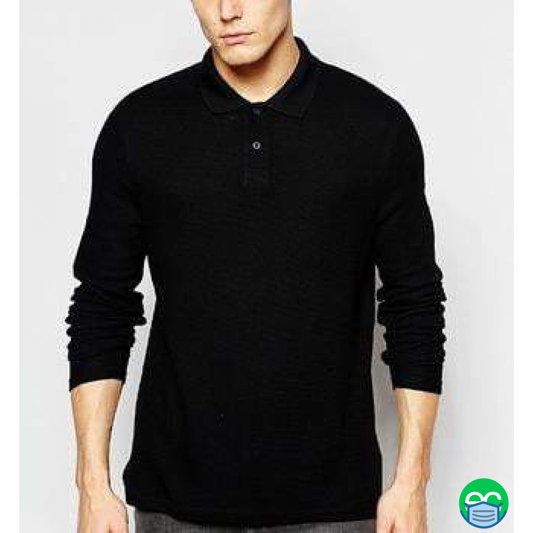 Long Sleeve Security Polo Shirt - ECEmbroid