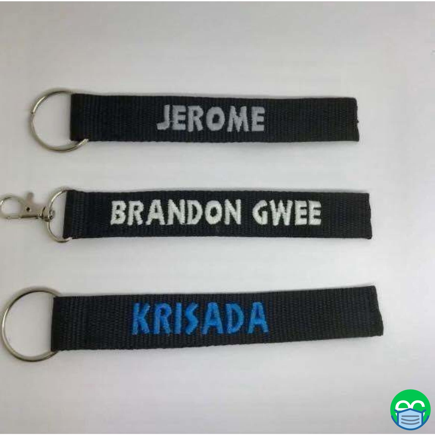 Personalized Keychain Tag Embroidery - ECEmbroid