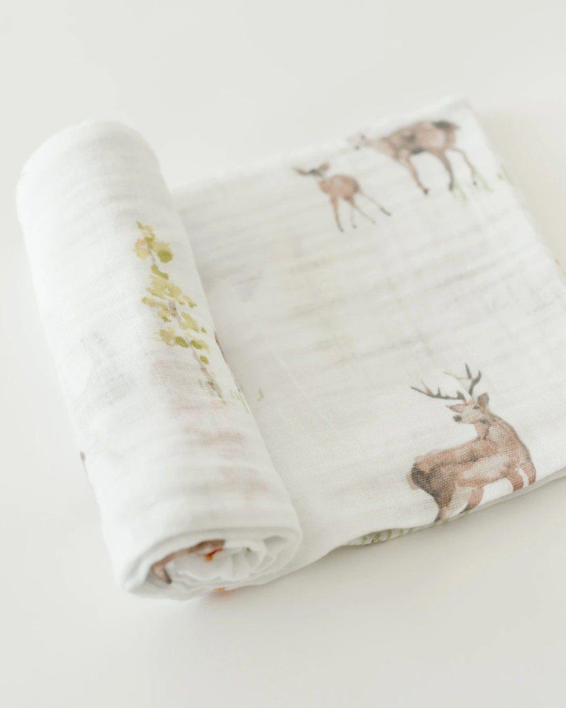 Couverture en mousseline de coton - Oh Deer-Couvertures-Little Unicorn-Boutique LeoLudo
