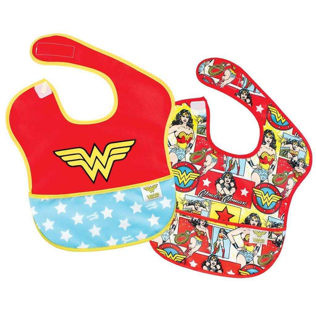 Supers bavettes Wonder Woman - Paquet de 2