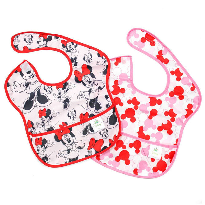 Super bavette Minnie Mouse - paquet de 2 de Bumkins - Boutique LeoLudo