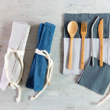 Load image into Gallery viewer, Utensil Wrap - Natural Linen