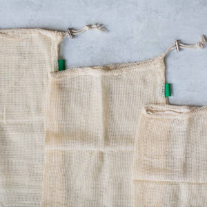 Cotton Mesh Produce Bags (3 Pack) - Dot & Army