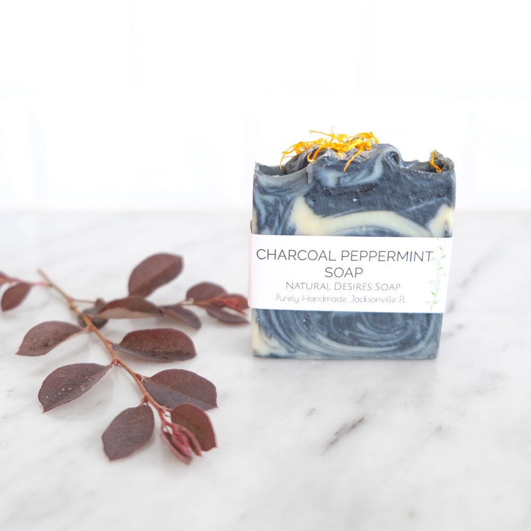 Soap Bar - Charcoal Peppermint (Natural Desires Soap Co.)