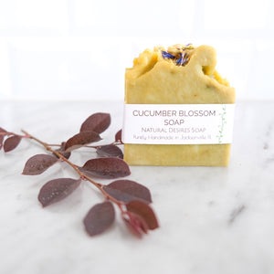Soap Bar - Cucumber Blossom (Natural Desires Soap Co.)
