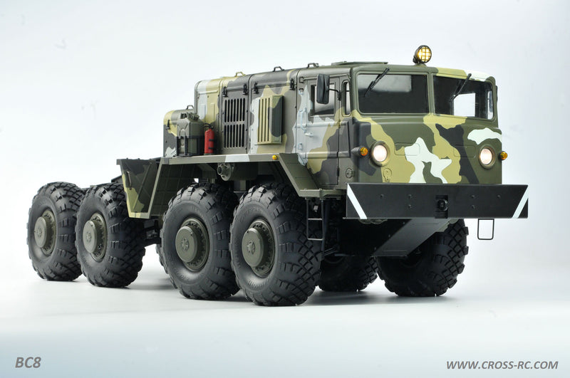 Cross RC BC8 Mammoth 1/12 Scale 8x8 Off Road Military Truck Kit-Flagship Version