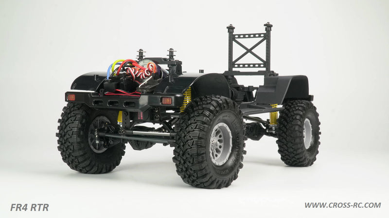 Cross RC FR4 1/10 Demon 4x4 RTR; No Battery or Charger - Gunmetal
