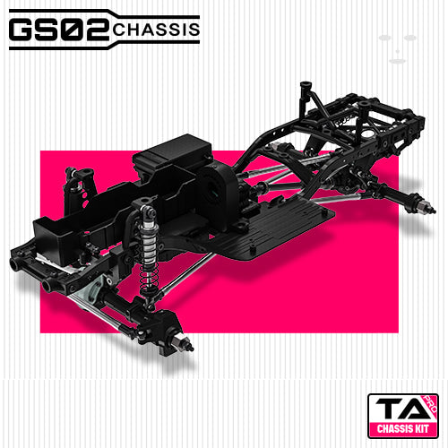 GMade 1/10 GS02 TA Pro Chassis Kit, Ready to Assemble