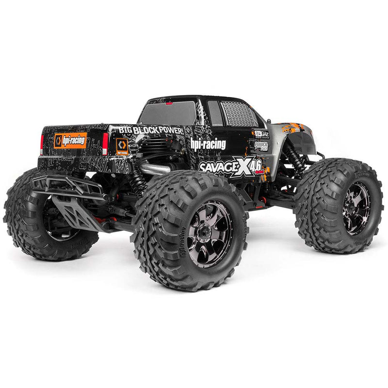 HPI SAVAGE X 4.6 Big Block RTR, Nitro Powered Monster Truck, 1/8 Scale, 4X4, w/ a 2.4Hz Radio System