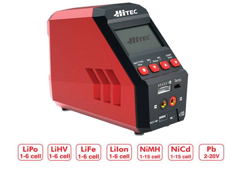 Hitec RDX1 Pro Single Channel 100W AC/DC Multi-Chemistry Charger