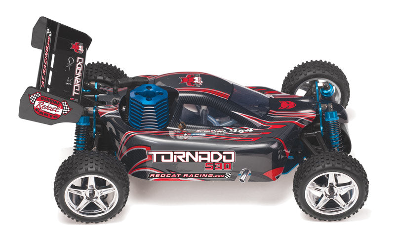 Redcat Racing Tornado S30 1/10 Scale Nitro Buggy RTR, Black/Red