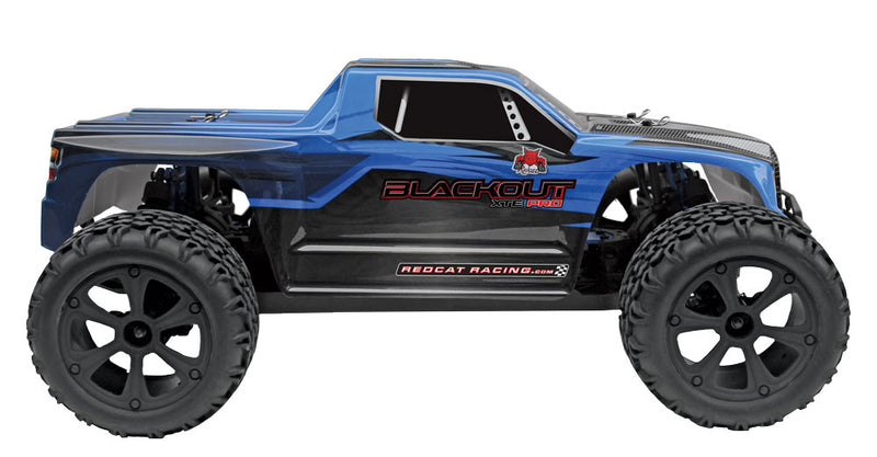 Redcat Racing Blackout XTE PRO Brushless 1/10 Scale Electric Monster Truck RTR, Blue Truck Body