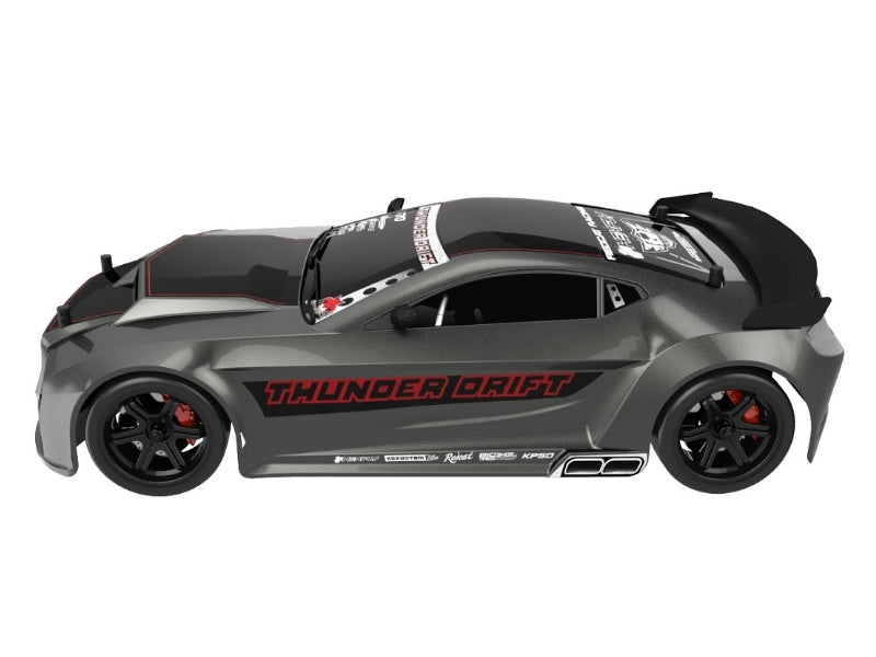 Redcat Racing Thunder Drift 1/10 Scale On Road Belt Drive Car RTR, Gun Metal