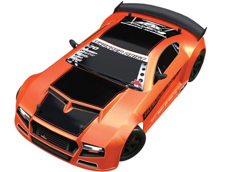Redcat Racing Thunder Drift 1/10 Scale On Road Belt Drive Car RTR, Metallic Orange