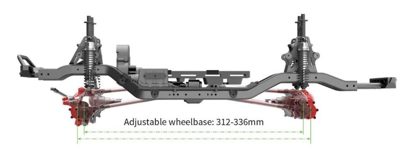 Redcat Racing GEN8 P-A-C-K (Pre Assembled Chassis Kit) Scale 4x4 Chassis Kit