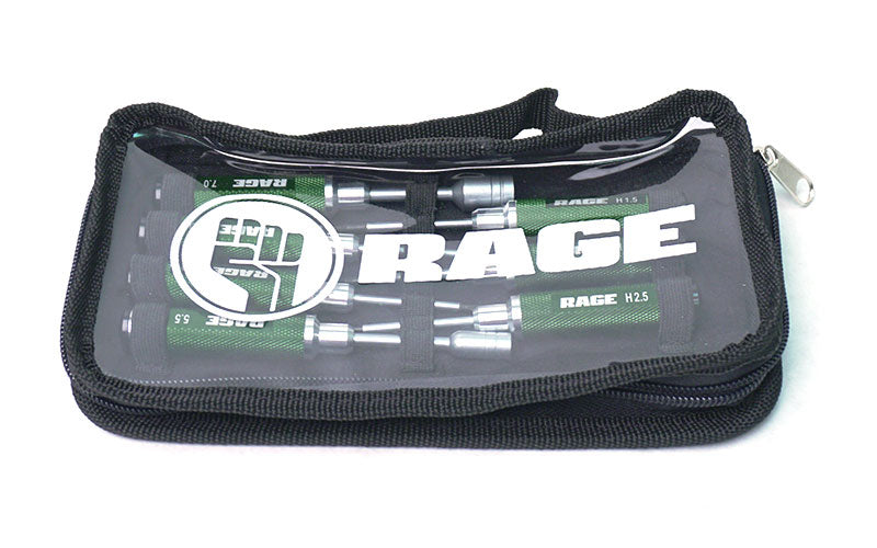 Rage RC Compact 7 Piece Machined Tool Set with Case