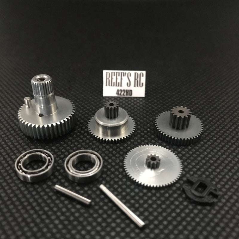 Reefs R/C 422 Servo Gear Set, w/ Dual Bearings