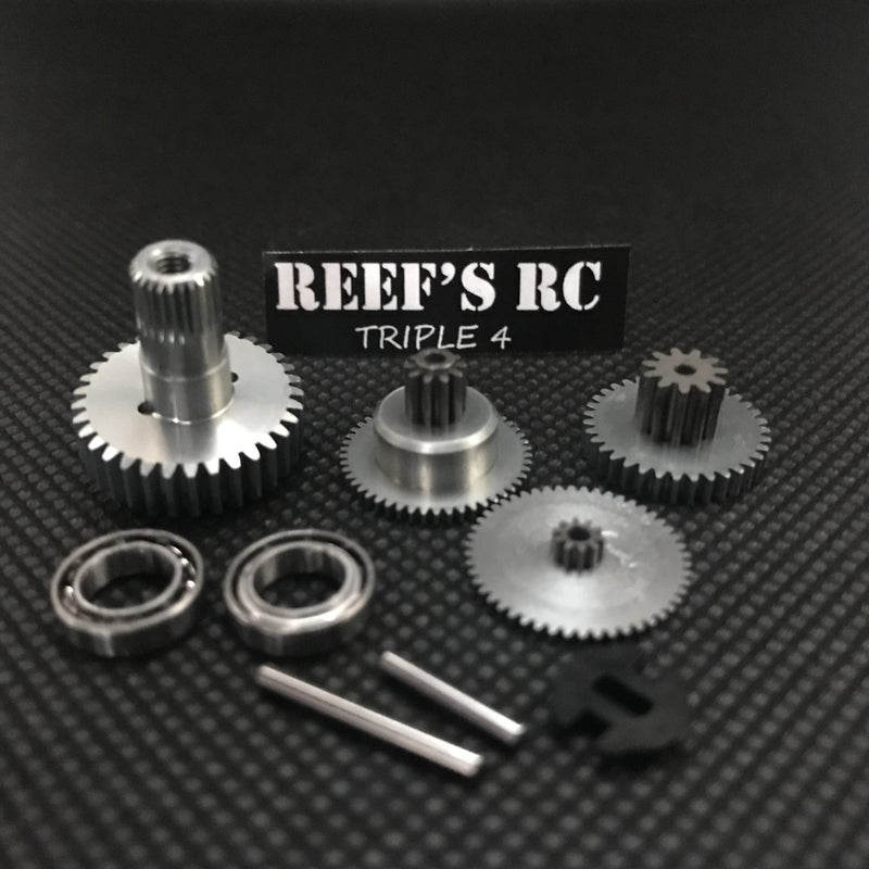 Reefs R/C 444 Servo Gear Set, w/ Dual Bearings