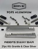 Reefs R/C 7075 Hard Anodized Aluminum Sway Bar Kit - Silver (21pcs)