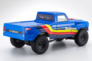 Kyosho Outlaw Rampage 1/10 2wd 2SRA Electric Truck, Blue, Readyset