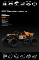 Gmade GOM Rock Crawler Buggy Kit, 1/10 Scale, w/ a GR01 Chassis, and 4WD