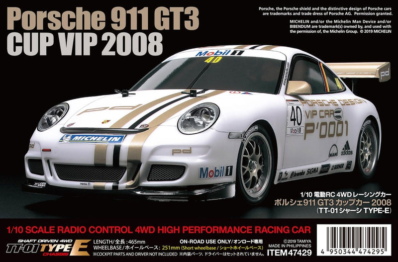 Tamiya Porsche 911 GT3 Cup VIP 2008 Kit, with TT-01 Type-E Chassis