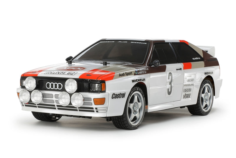 Tamiya RC Audi Quattro A2 Rally Car Kit, TT-02 Chassis