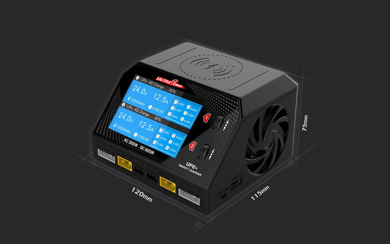 Ultra Power UP6+ 300W/600W Dual Port Multi Chemistry AC/DC Charger