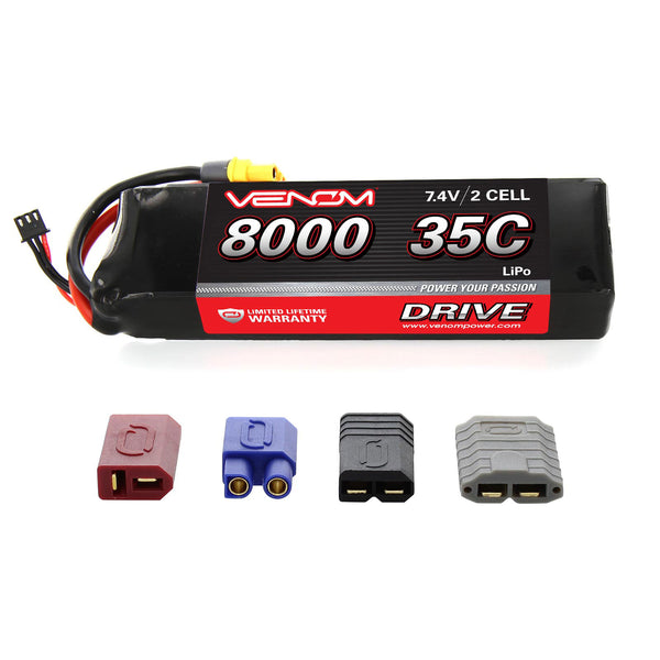 Venom DRIVE 35C 2S 8000mAh 7.4V LiPo Battery with UNI 2.0 Plug