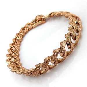 Hemmms Gold Tone Dog Collar 32mm Metal Slip Chain - Cool + Best for Large Dogs: Pitbull, Doberman, Bulldog, Rottweiler and More