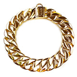 "Hemmms Gold Plated Stainless Steel 12-30"" 43mm Pets Chain Dog Training Collar Necklace"