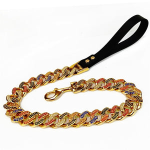 Hemmms Stainless Steel Chains Dog Pet Choker Collars Necklace 12-36inch