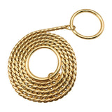 Hemmms 5mm Gold Dog Chain Snake Chain Leashes Dog Harness Twisted Necklace Pet Show Training Dog Leash
