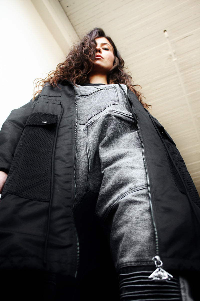 NEO'S Tailored Long Hooded Jacket