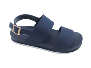 Classy Comfy Cushy Women's Double Strap Sandals with Adjustable Back Strap