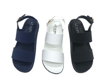 Load image into Gallery viewer, Classy Comfy Cushy Women's Double Strap Sandals with Adjustable Back Strap