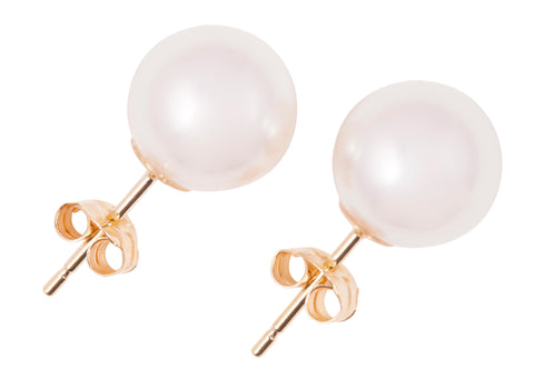 South Sea White Pearl Stud Earrings