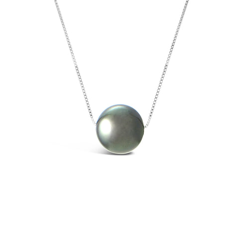 Black Pearl Pendant Necklace