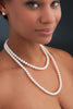 White akoya pearl opera length necklace