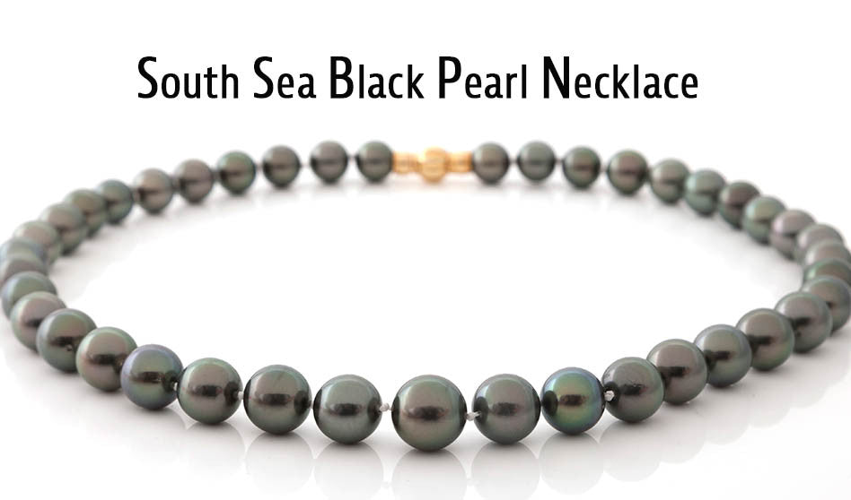 Multi-Colored Black South Sea Cultured Pearl Necklace