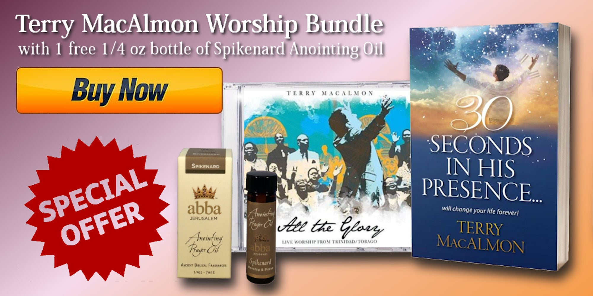 Terry MacAlmon Worship Bundle - Abba Oil