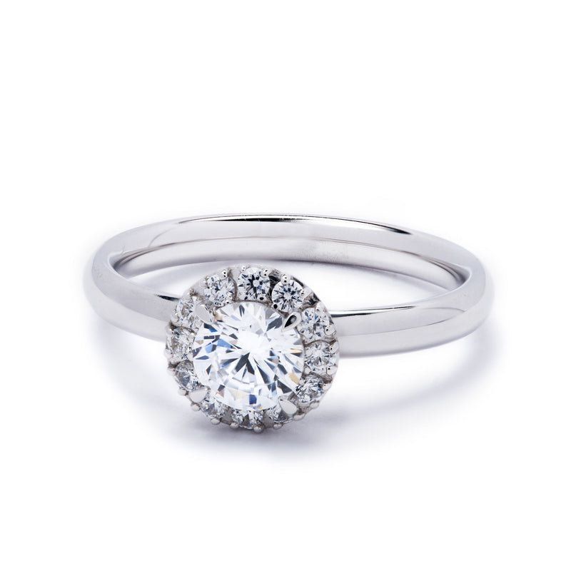 Halo Diamond Ring 0.96ct
