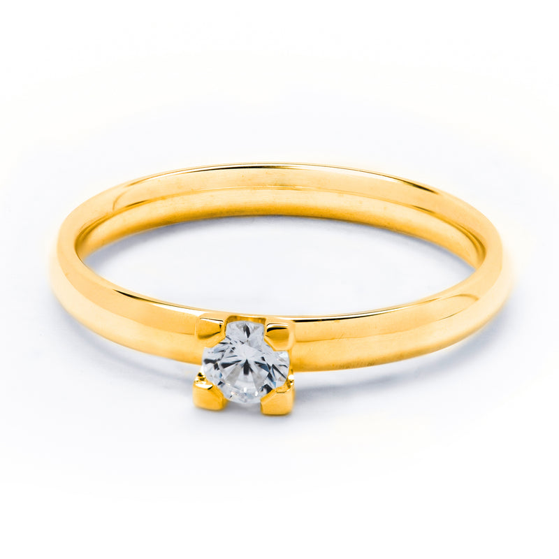 Solitare Diamond Ring With 0.20 ct