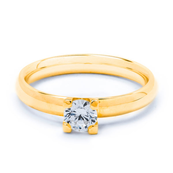 Solitaire Diamond Ring 0.40ct 4-claw