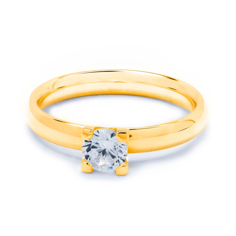 Solitaire Diamond Ring 0.50ct 4-claw